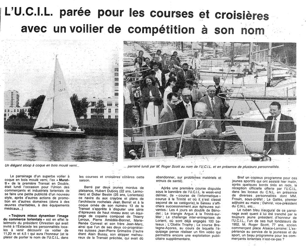 UCIL Lorient partenaire d'hydrofolies