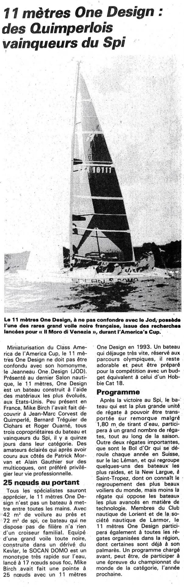 Spi Ouest France remporté par hydrofolies